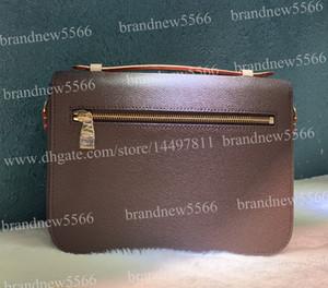 Echtes Leder 7is Metis Handtasche 40780 Messenger Bags Bestnote Hardware 25 cm Mode Design Klappe Umhängetasche