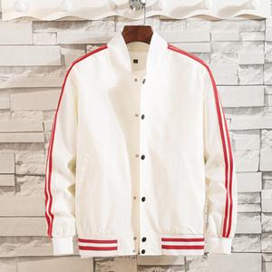 eril şerit gevşek Retro vintage beyzbol üniforma Pilot ceket adamın hip hop bombardıman ceket eşofman rüzgarlık SPORTWEAR