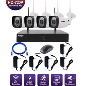 ANSPO de 4CH WiFi sécurité sans fil Caméra système NVR 960P vision nocturne IR-Cut CCTV Accueil Surveillance Caméra système Kit étanche