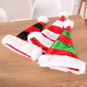 Natal Pompon Plush Hat exterior personalizado Ski Beanie Chapéus listrada inverno quente Festa de Natal decorativa Cap Frete grátis LXL462-A