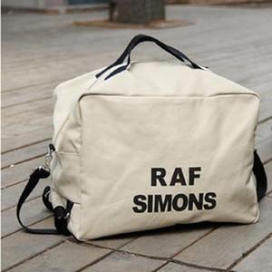 Borse di spalla delle donne della tela di canapa Nuovo Borsa Unisex Borse Totes Uomini Raf Simons stampa Stuff Sacks bagagli