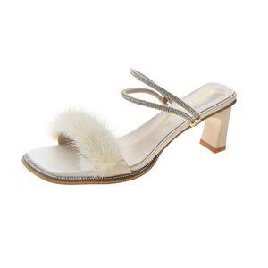 2020 sandálias novas para o casamento mulheres partido damasco dedos apontados verdes Bombas fundos menina do vestido de borracha sapatos de salto robusto 35-39