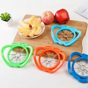 Küche Obst Slicer Easy Cutter-Schnitt-Frucht-Messer Cutter für Apple-Birnen-Eindickung Plastikhandgriff Cutter Multi-Funktions-Frucht-Messer LXL859-1