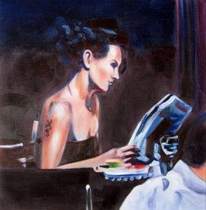 Lecture Home Décor peint à la main HD Imprimer Peinture à l'huile sur toile Wall Art Toile Grandes photos 191125
