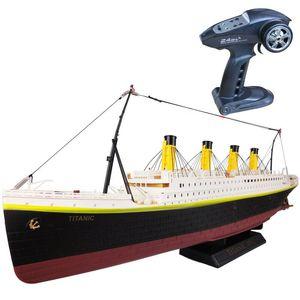 RC Boat 1: 325 Titanic Mar Grande Cruise Ship 3D Century Titanic clássico Love Story RC Boat alta Simulação Navio Modelo Brinquedos Y200413