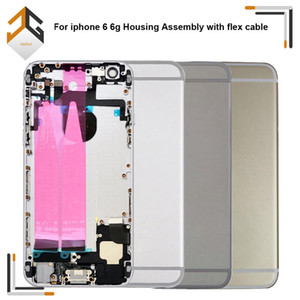 30pcs Middle Cadre Châssis Plein boîtier Assemblée Batterie de couverture avec Flex câble pour l'iphone 6 6G Pièces de rechange