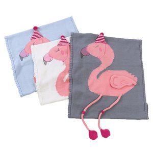 3 Couleurs 60 * 120cm Couvertures de couchage pour bébé Couverture Flamingo Couverture Fil de laine Tricoté 3D Couverture Tapis de Plage Crochet Swaddling Towel M324