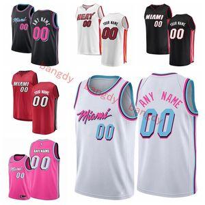 Personalizado Mens Mulher Kids MiaminbaCalorretrocessoJerseys Dwyane Wade 3 Tyler 14 Herro Jimmy 22 Butler Basketball Jersey Preto
