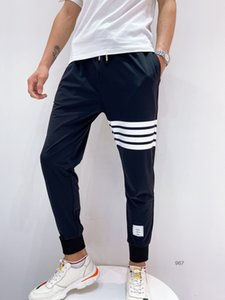 Spring Summer 2020 new high-end quality temperatures-sports summer men's pants of bunched-ice stretch fabric size 06196101 31-38
