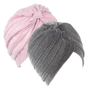 Toptan Yeni Erkekler ve kadınlar Rahat altın parlak ipek Hint Şapkalar Ortadoğu Müslüman Fırfır Türban Başörtüsü Şapka Başkanı Şal ...