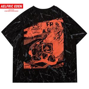 Aelfric Eden Hip Hop Tie Dye Famiglia Stampa T shirt da uomo a maniche corte 2020 Harajuku Fashion Streetwear Maschio Cotone Casual Tops Tees