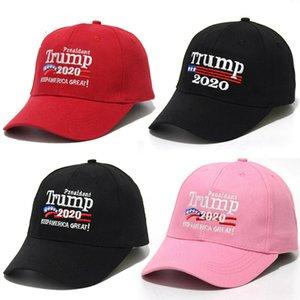 Trump 2020 gorras de béisbol del bordado de hacer América grande Una vez más, Donald Trump béisbol capsula los sombreros adultos Sports Party Sombreros Suministros RRA3184