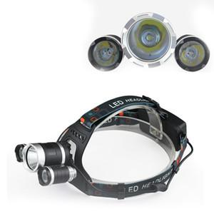 3T6 Far 6000 Lümen 3 x T6 Kafa Lambası Yüksek Güç LED Far Başkanı Torch Lambası Fener Başkanı + şarj