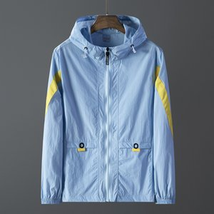 Men's Thin Jackets Casual Couple Active Sun Protection Coat Men Outdoor Hooded Breathable Windbreakers 5 Colors Size S-8XL