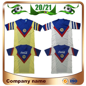1987 1988 Retro version MX Club America Soccer Jerseys 87 88 America R.SAMBUEZA P.AGUILAR Soccer shirt Mexico club Football uniform