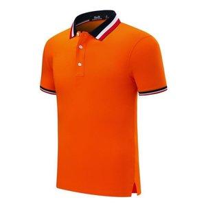 SD 20065 CF classico a tre colori colletto a righe nuovo modo della camicia di polo a maniche corte confortevole e traspirante maglietta arancione uniforme