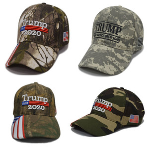 Tarnungs-Donald Trump-Hüte USA-Flaggen-Baseballmütze machen Keep America Great 2020-Hut-Stickerei-Stern-Buchstabe-Camouflage-Hysteresensport-Kappe HH9-2406