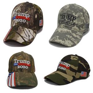 Camouflage Donald Trump Cappelli Bandiera USA Berretto da baseball Make Keep America Great 2020 Cappelli Ricamo Stella Lettera Camo Snapback Berretto sportivo HH9-2406
