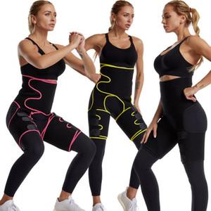 Pernas Siamese cintura Perna Belt Slimming Leg Shaper Warmer Magro Shaping Fat Belt queima Wraps Thermo Compress Shapers