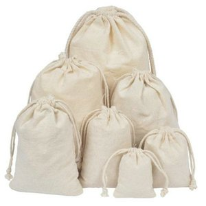 Cotton Produce Bags Large Reusable Canvas Muslin Storage Organizing Drawstring Fabric Sack For Laundry Grocery Drawstring Vegetables UhhPg