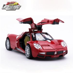 Diecast Collection Pagani Huayra Scale Model As Boys Kids Metal Vehicle Toys Gift With Openable Doors and Pull Back Function Y200109