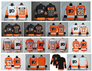 НХЛ Филадельфия Флайерз Джерси 28 Клод Жиру 11 Трэвис Конечни 53 Шейн Гостисбери 17 Уэйн Симмондс 93 Якуб Ворачек Оранжевый Хоккей