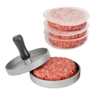 Forma rotonda Hamburger Press lega di alluminio Hamburger di carne di manzo Grill Burger Press Patty Maker muffa DIY cucina a base di carne Strumenti DBC BH3555