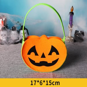 Halloween Party Supplies конфеты сумка сумка Halloween Kid мешок подарков Black Cat Тыква Printed Организатор сумка Нетканые сумки хранения VT0564
