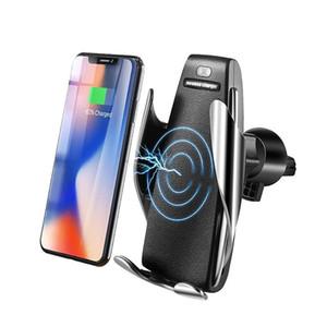 S5 Автоматическое Зажимной автомобиля Беспроводное зарядное устройство 10W Быстрая зарядка телефона держатель для смартфонов Ци Инфракрасный датчик держатель телефона