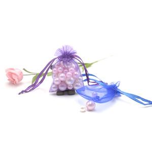 2018 Fashional 200pcs 5x7cm con coulisse in organza Borse gioielli colorati PackagingDisplay Bags WeddingBirthday Gift Bags