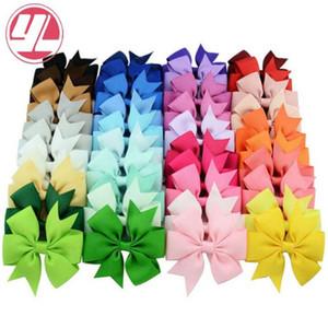 40 цветов мило лук заколка дети Hairclip однотонный рыбьего хвоста лука шпилька аксессуары мода волос для детей