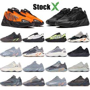 Stockx 700 Kanye Ayakkabı Erkekler Kadınlar Eğitmenler Üçlü Utility Siyah Vanta Statik Tuz Karbon Teal Blue Wave Runner Tasarımcı Sneakers Running With