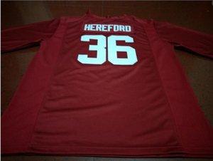 Hommes jeunes femmes # 36 Mac Hereford Alabama Crimson Tide Football Jersey taille-5XL ou sur mesure tout maillot de nom ou le numéro
