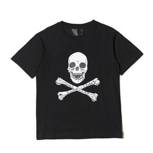 Vlone Череп Men T Shirt Высокое качество Hip Hop Короткие рукава Vlone Женщины Мужчины Стилист тенниска
