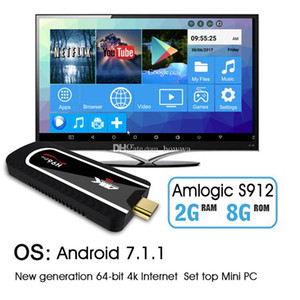 Android 7.1 Mini PC H96 Pro Octa Core 4K Media Box 2GB 8GB Amlogic S912 TV Internet Box 2.4 G WIFI Bluetooth4. 0 HEVC H. 265