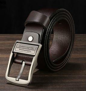 Cuoio superiore della cinghia dei nuovi uomini Singolo Prong Cintura Business Casual Dress Fibbia in metallo Moderna (colore: marrone, nero) Trasporto libero