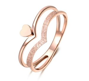 2020 Romantic Heart-shaped Crown Molde Ring Rose Gold Color Stainless Steel Jewelry Gift For Women JR18140