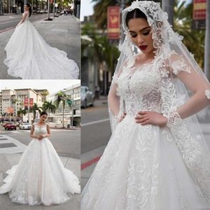 Abiti da sposa eleganti linea A Abiti da sposa in pizzo marocchino Abiti da sposa lunghi per abiti da sposa