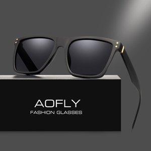 AOFLY Мужчины поляризованных солнцезащитных очков Vintage Мужские солнцезащитные очки Polaroid линзы моды Марка Дизайнер очки óculos Gafas De Так AF8033