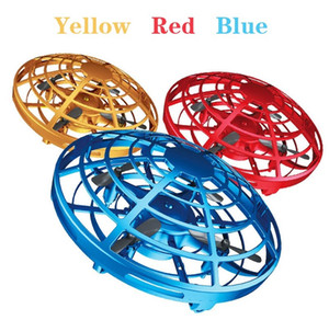 3 Colour Mini Helicopter UFO RC Drone Infraed Hand Sensing Aircraft Electronic Model Quadcopter Flayaball Small Drohne Toys for Children