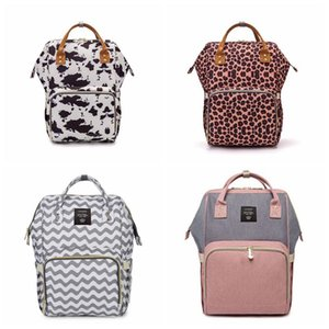حقائب الأم حفاضات الأمومة حقائب تحمل على الظهر ليوبارد طباعة الأم حقائب تحمل على الظهر جديد متعدد الوظائف الأم الظهر 25 الألوان LXL313-1Q
