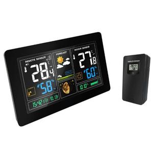 Stazione meteo wireless Sensore di umidità per la temperatura Display LCD colorato Previsioni meteorologiche Snooze alarm clock Radio contraol Time