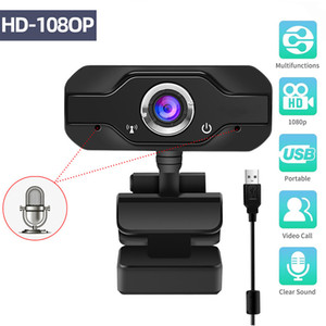HD Webcam Built-In Sound-absorbing Dual Mics Smart 1080P Web Camera USB Pro Stream Camera for Desktop Laptops PC Game