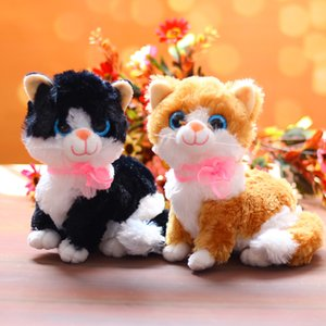 1 adet sevimli sevimli Lifelike pisiciğim Peluş Oyuncak Bebek Yumuşak Oyuncak Kedi Plushy Topluca Doldurulmuş Oyuncaklar Peluche Maskot Kız Çocuk Oyuncakları
