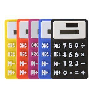 Mini Calculator dobrável Silicone Calculadora Solar Energia Criativa Cartão de Estudante Magnetic Calculadora Escola Escritório Ferramenta DBC VT0210