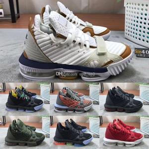 2020 Chegada LeBron XVI 16 Black White Gold BHM externas de qualidade Mens Basketball Shoes Top 16s Atlético lobo cinzento Esportes sapatilhas do desenhista