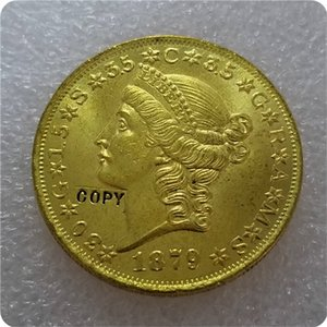Cópia de réplica 1876,1879 $ 20 (vinte dólares) Padrões Gold Coin copiar outros Home Decor