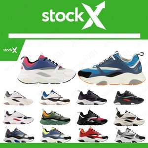 Lona e bezerro Formadores Running Shoes Fashion Women Sneakers franceses Designer Marca Casual Sapatos Qualidade B22 B23 Homens New alta