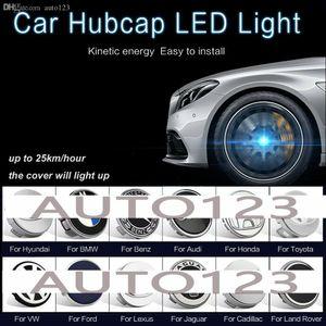 4x Set Car Roda Tire Center calotas LED Light Blue tampa capa Lâmpada para o BMW LEXUS Ford Mercedes Benz Nissan VW Toyota Honda Hyundai Audi