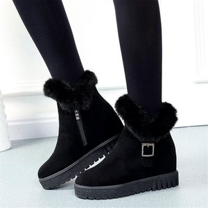 SARAIRIS 2020 Wholesale Winter Warm Snow Boots Shoes Woman Comfortable Inside High Heels Ankle Boots Female Boots Women Shoes